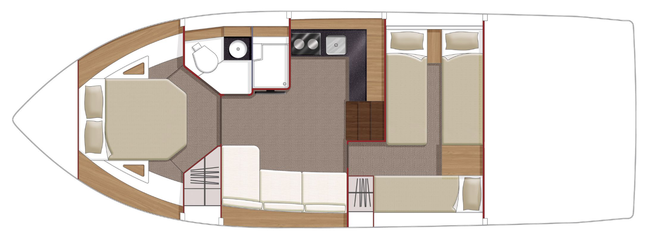 Manufacturer Provided Image: Sealine International SC35 Layout Plan