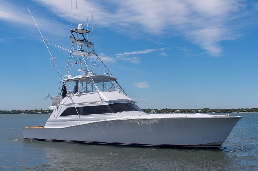 1996 60' Jim Smith Custom Sportfisherman Starboard Profile