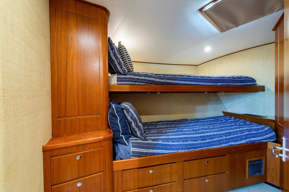 1996 60' Jim Smith Custom Sportfisherman Forward Guest Stateroom