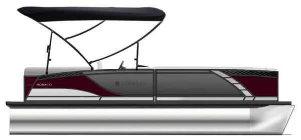 2021 Godfrey Pontoon boat for sale, model of the boat is Monaco 235 DFL iMPACT  29 in. Center Tube & Image # 1 of 1