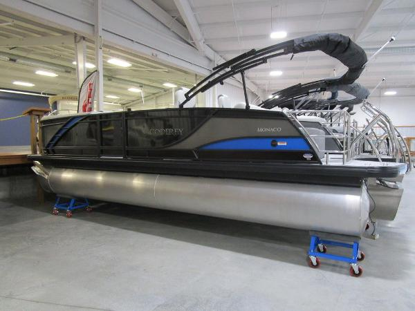 2021 Godfrey Pontoon boat for sale, model of the boat is Monaco 235 DFL iMPACT  29 in. Center Tube & Image # 3 of 40