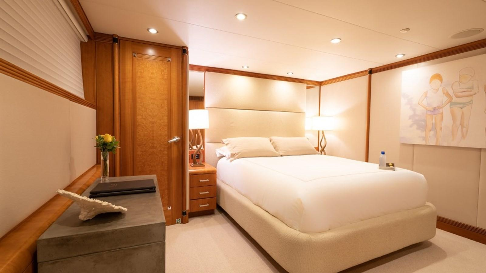 1997 Christensen 155' ''LOON'' - Starboard Aft Stateroom (Queen bed)