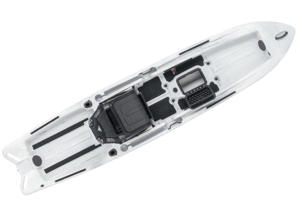 2021 Ascend boat for sale, model of the boat is 128X Yak-Power Sit-On - White/Black & Image # 4 of 5