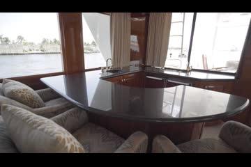 Hatteras Flybridge video