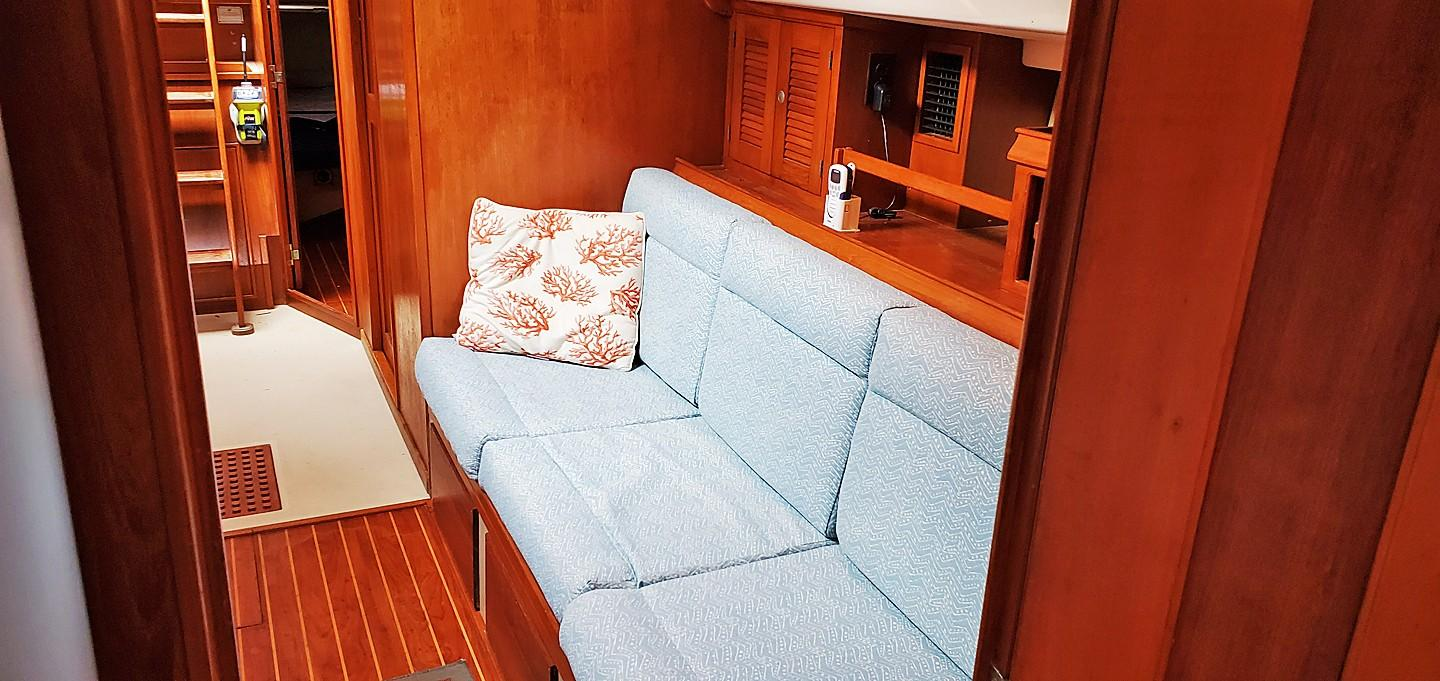 Port Settee from Fwd Cab