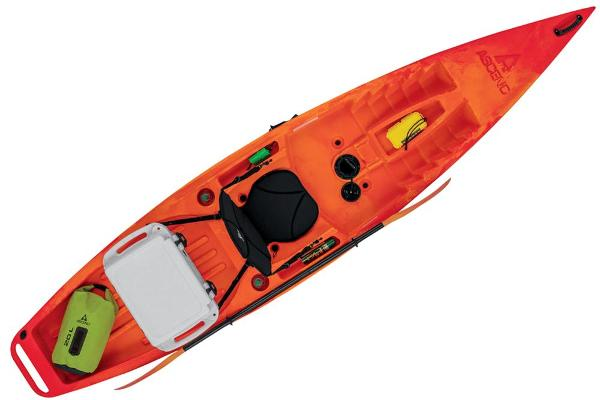 2021 Ascend boat for sale, model of the boat is 12R Sport Sit-On - Orange/Red & Image # 6 of 6