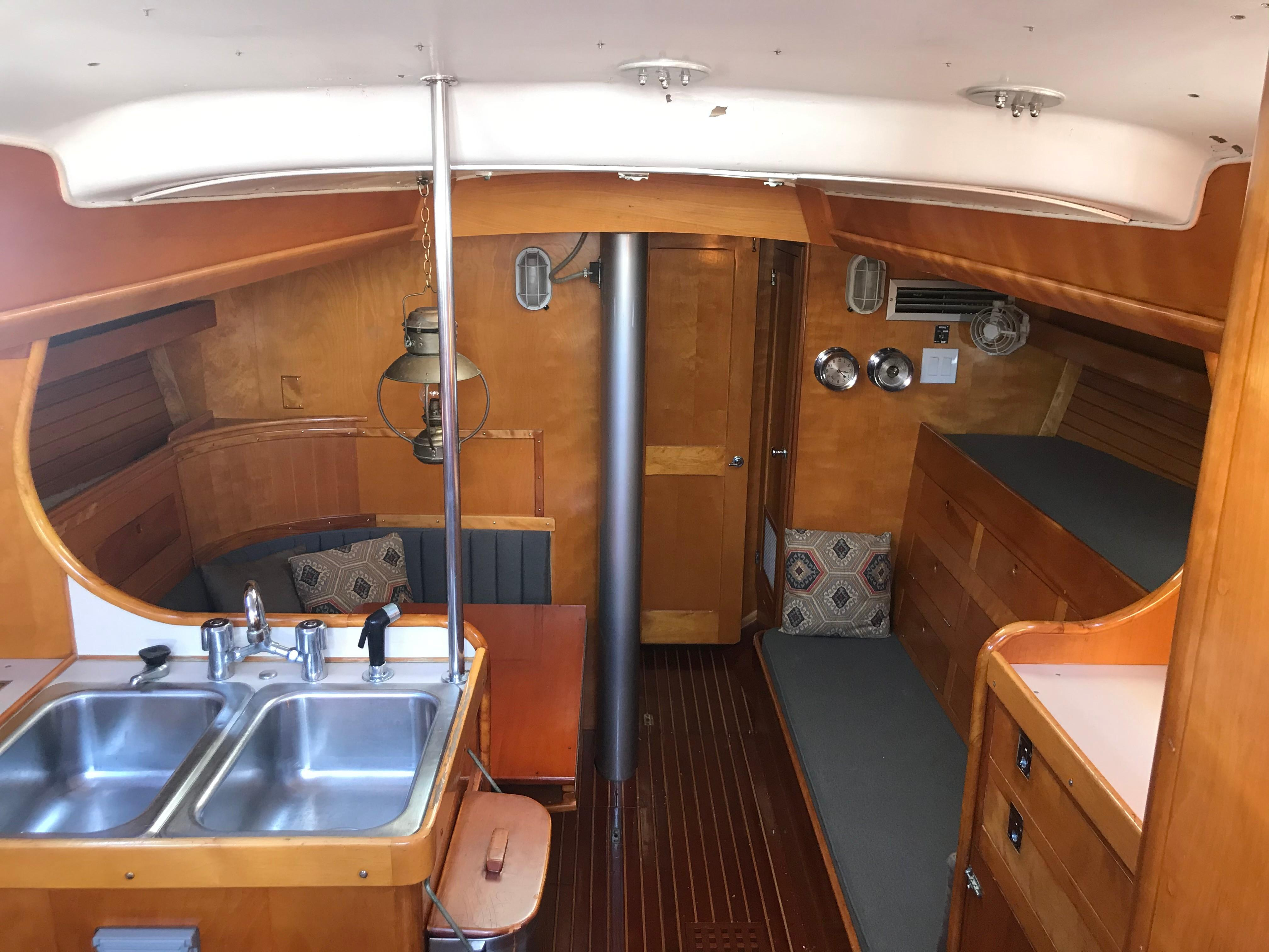 View forward from Companionway