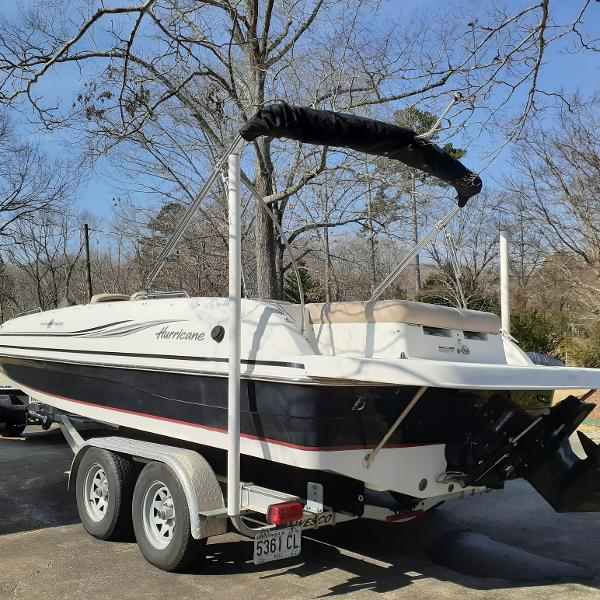 2014 Hurricane boat for sale, model of the boat is SunDeck Sport 201 I/O & Image # 6 of 12
