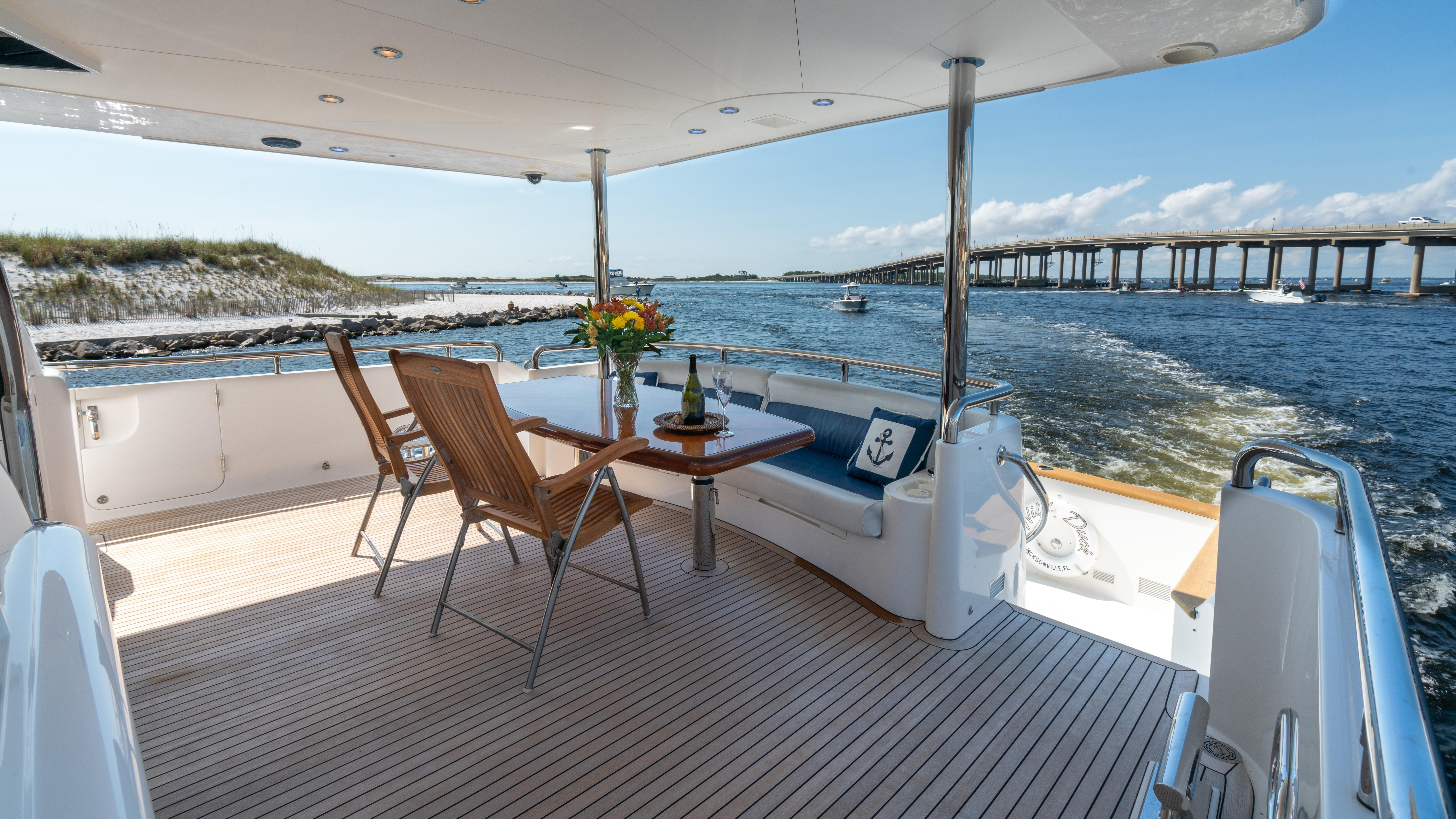 Aft deck and settee