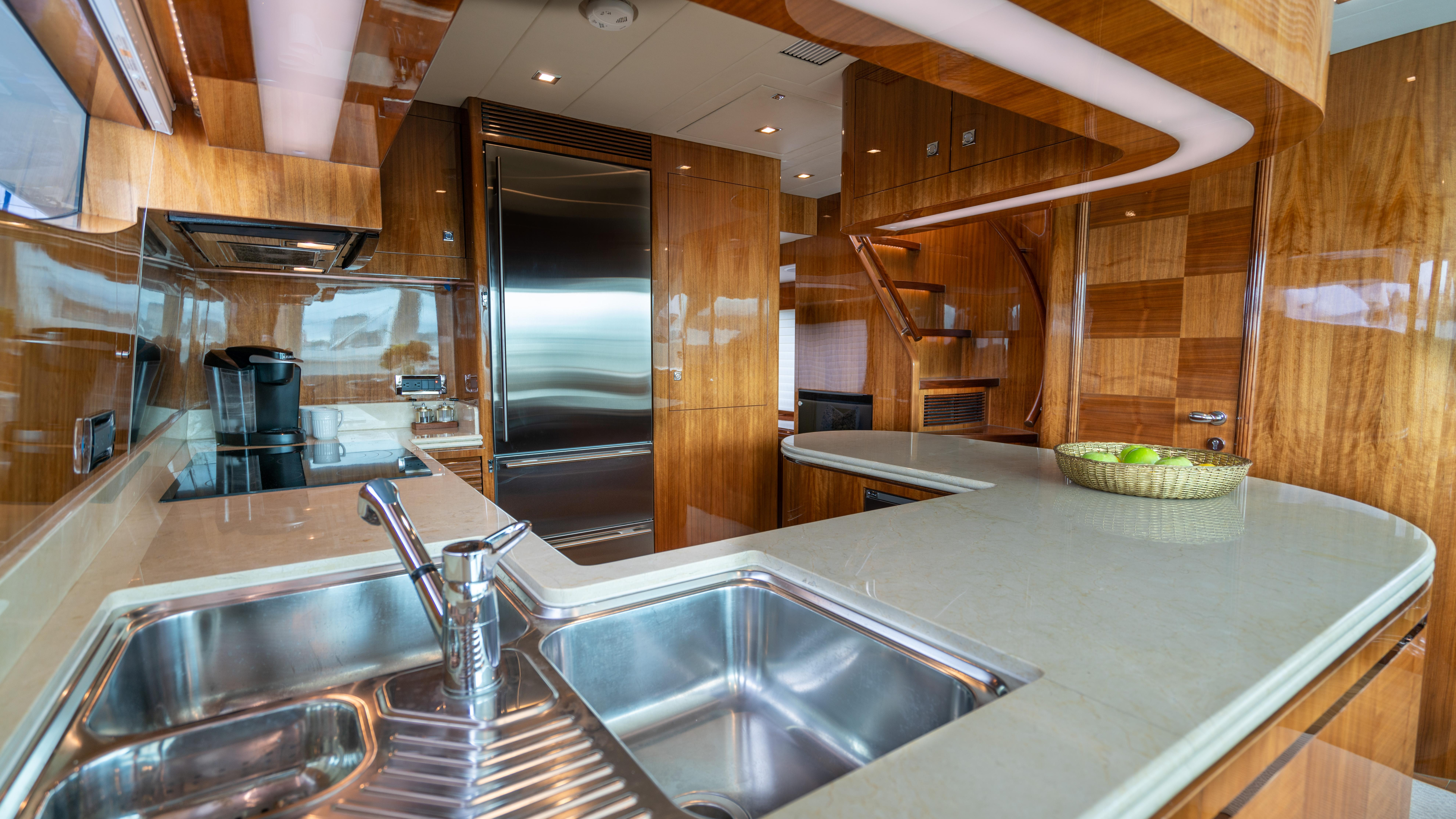 Galley, double sink