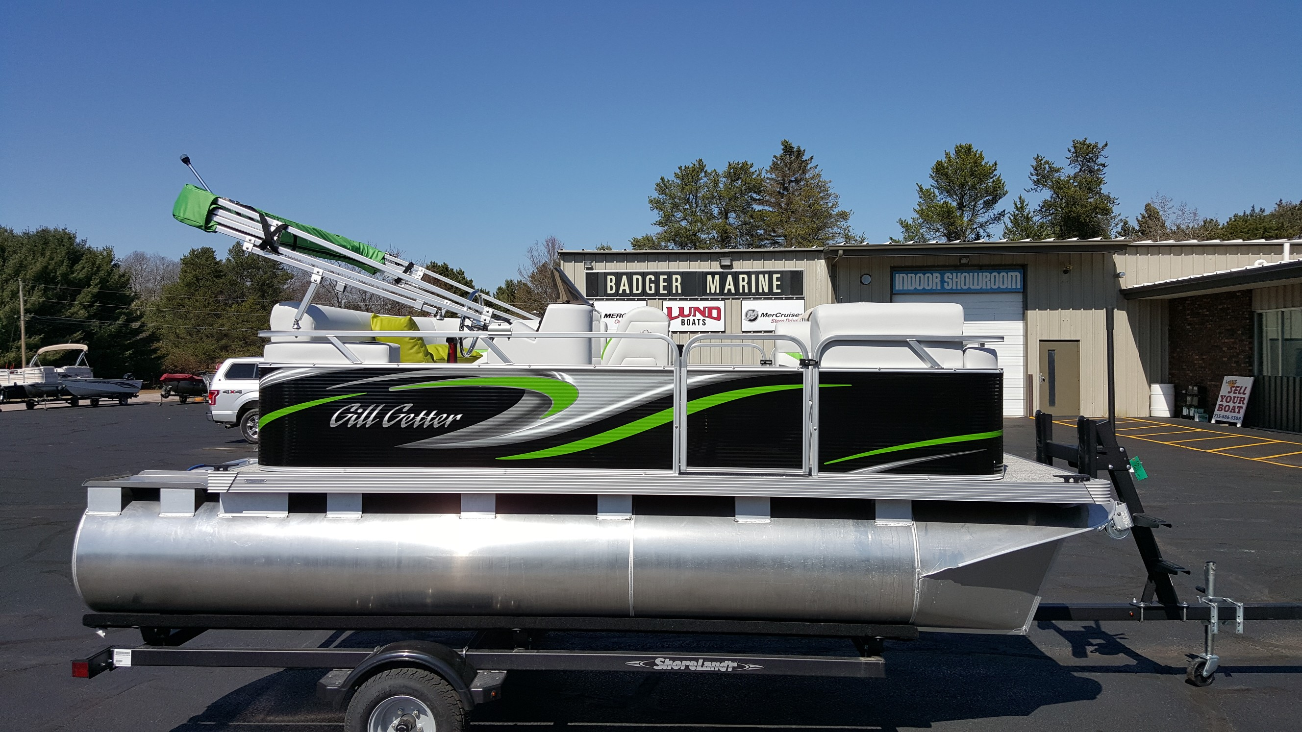2021 Qwest Pontoons Gillgetter 7515 Cruise Deluxe