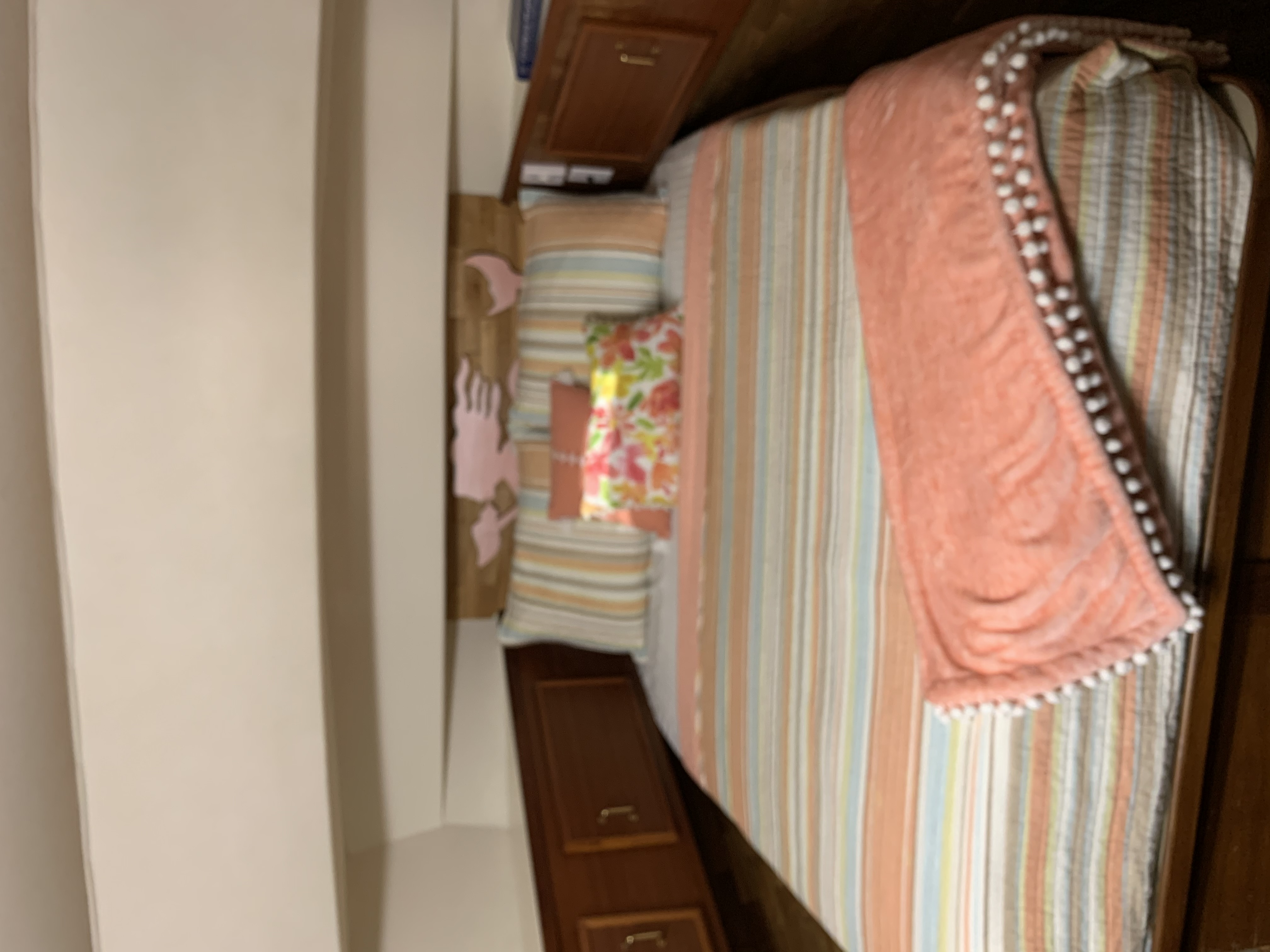 Forward stateroom with queen berth