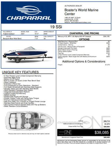 2021 CHAPARRAL 19 SSI for sale