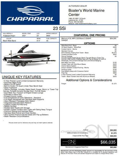 2021 Chaparral boat for sale, model of the boat is 23 ssi & Image # 1 of 1