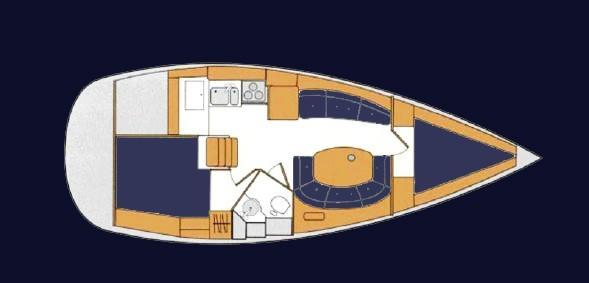 Beneteau 351 Two Cabin Layout