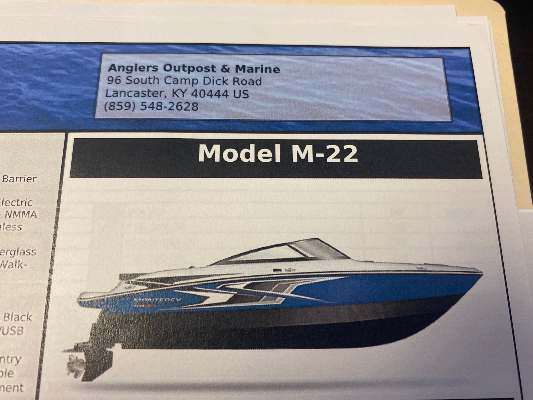 2021 MONTEREY M-22 (On order, secure your boat today!) thumbnail