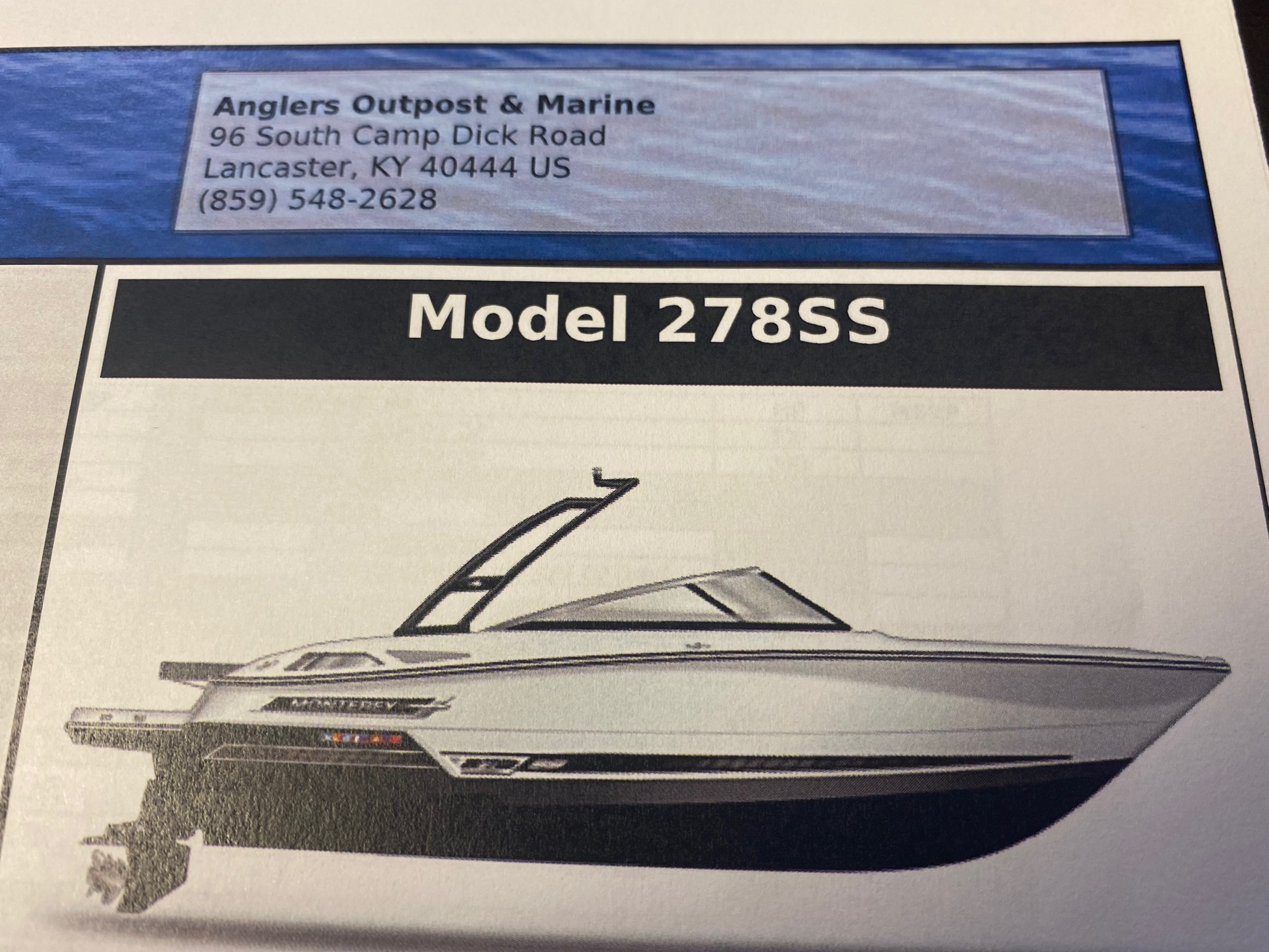 2021 MONTEREY 278SS (On order, secure your boat today!)