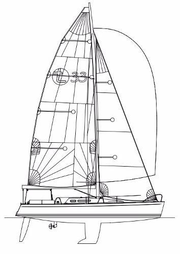 Tarac 33 sail plan