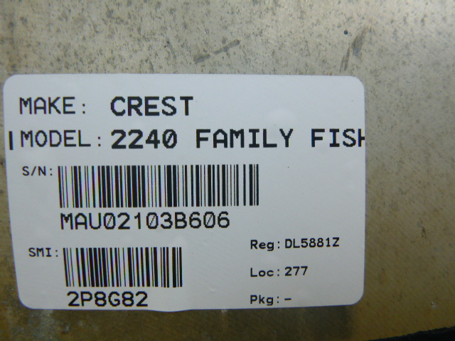 2006 Crest boat for sale, model of the boat is 2240 FF & Image # 10 of 16