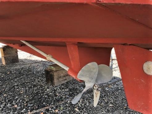 Port Side Propeller & Rudder