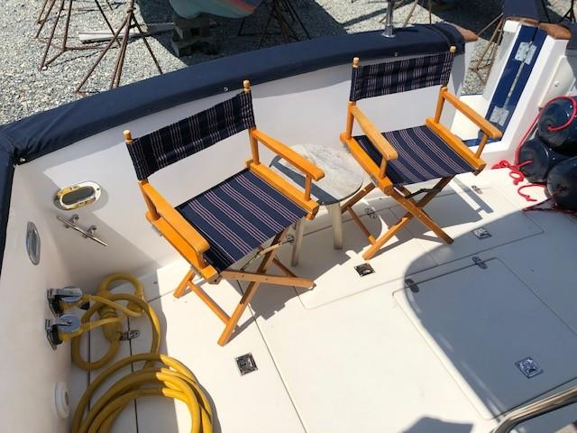 Comfortable Aft Deck w/Matching Chairs