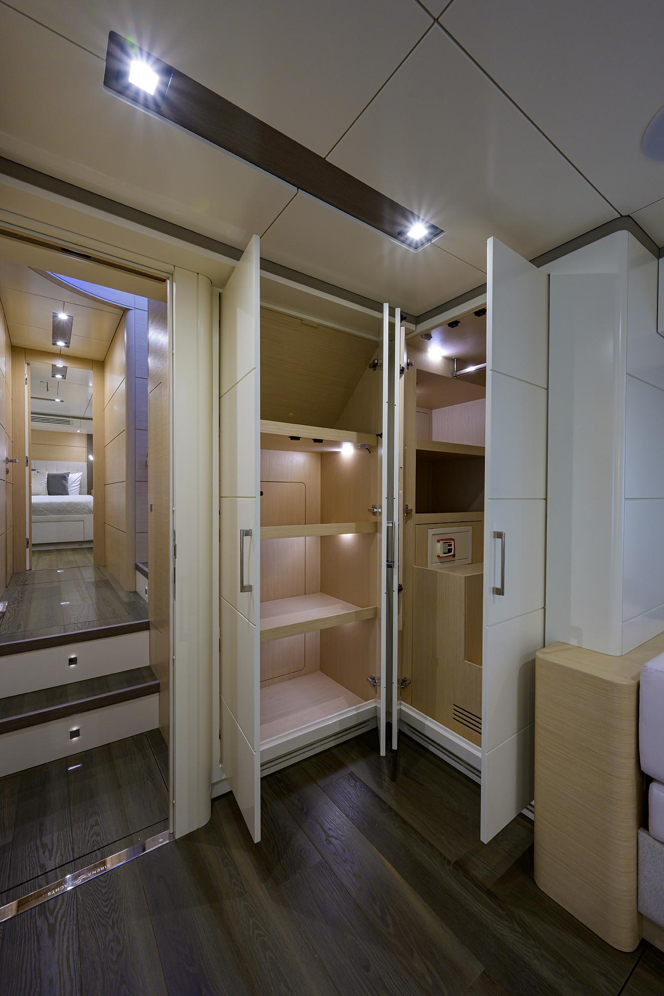 master cabin closets