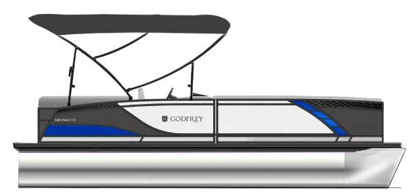 2021 Godfrey Pontoon boat for sale, model of the boat is Monaco 235 C iMPACT 29 in. Center Tube & Image # 1 of 1