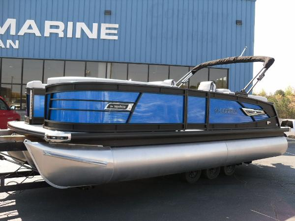2021 Godfrey Pontoon boat for sale, model of the boat is AquaPatio 235 SBC iMPACT 29 in. Center Tube & Image # 3 of 46