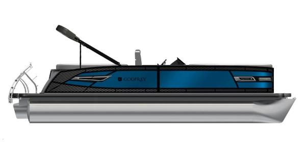 2021 Godfrey Pontoon boat for sale, model of the boat is AquaPatio 235 SBC iMPACT 29 in. Center Tube & Image # 29 of 46