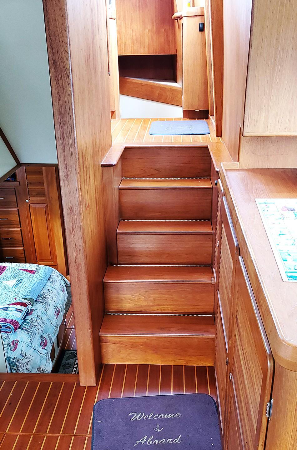 Stairs to Pilothouse from Salon