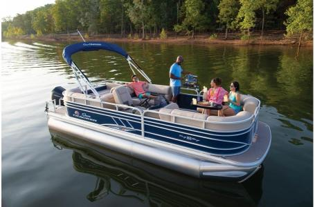 2020 Sun Tracker boat for sale, model of the boat is Signature Party Barge 22RF XP3 w/150L 4S & Image # 2 of 13