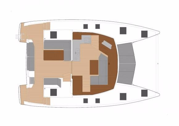 Fountaine Pajot Lucia 40 Lower Deck Layout Plan