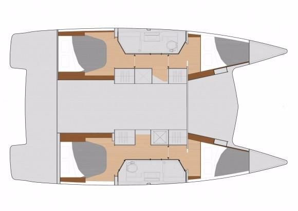 Fountaine Pajot Lucia 40 Cabin Layout Plan