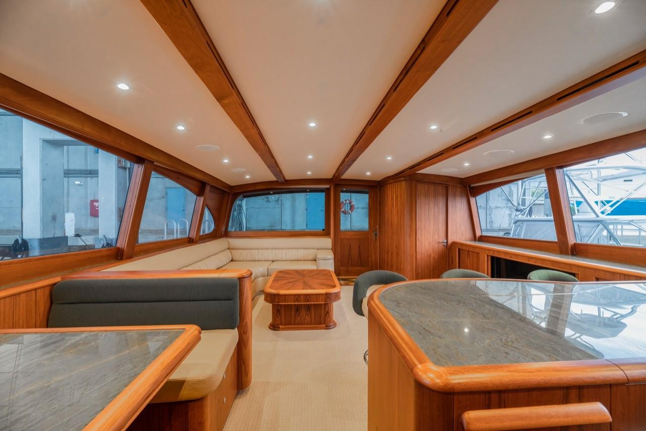 Salon - looking aft from Galley/Dinette