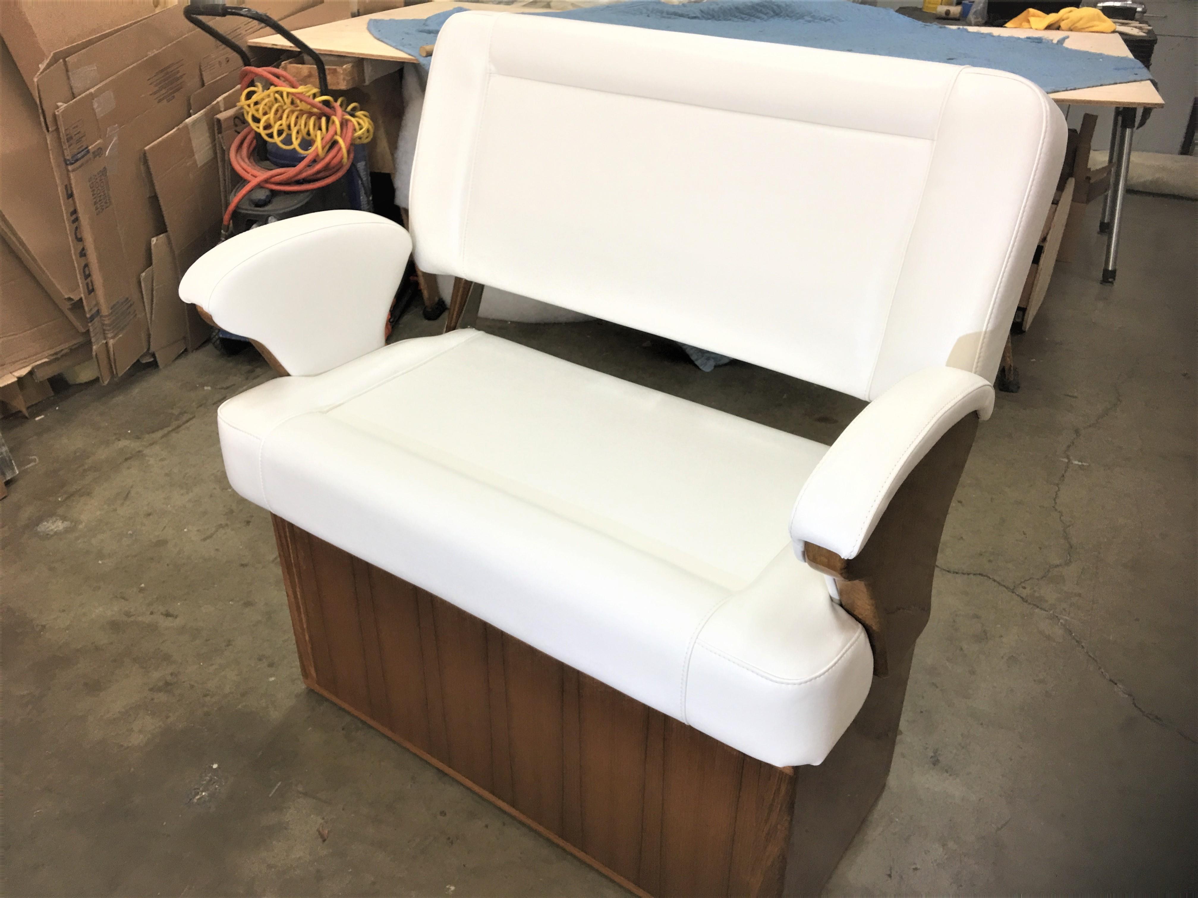 Custom Teak Helm Chair