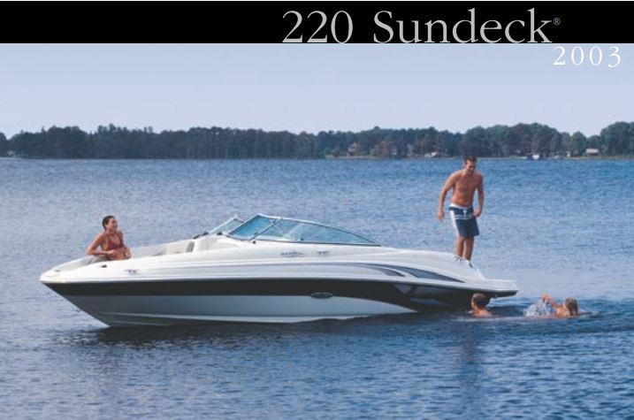 2003 SEA RAY 220 Sundeck thumbnail