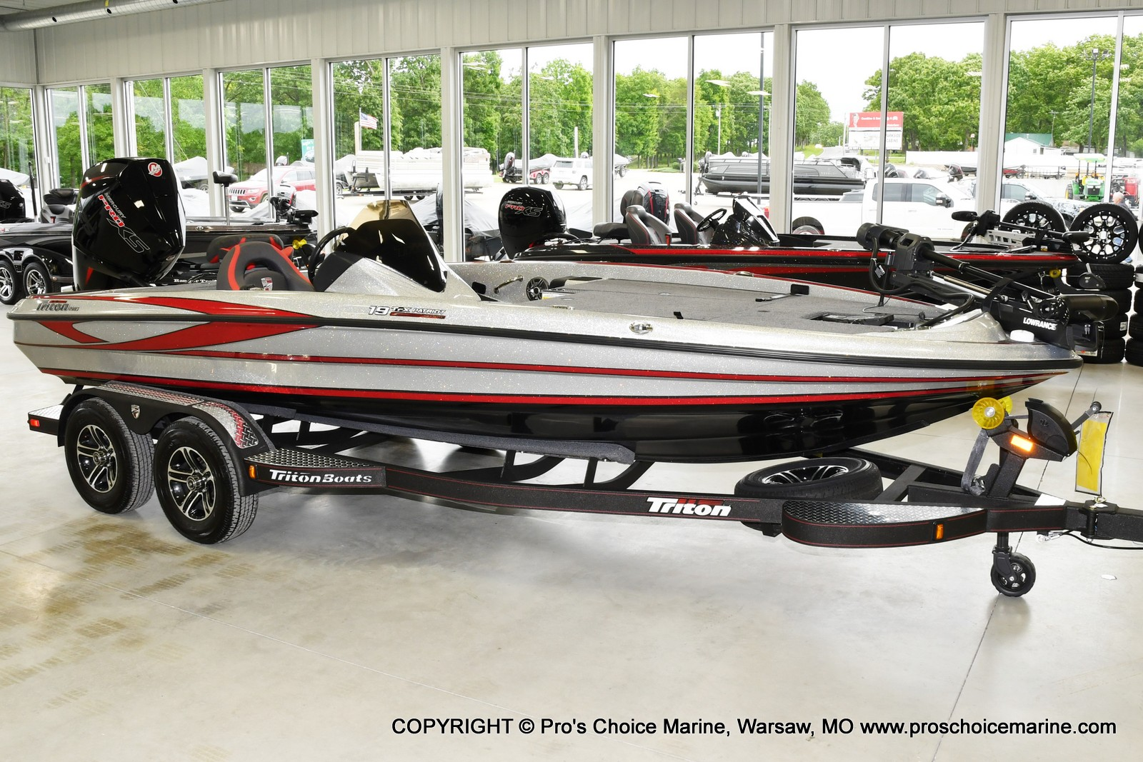 2021 Triton boat for sale, model of the boat is 19 TRX PATRIOT w/225HP PRO-XS & Image # 16 of 23