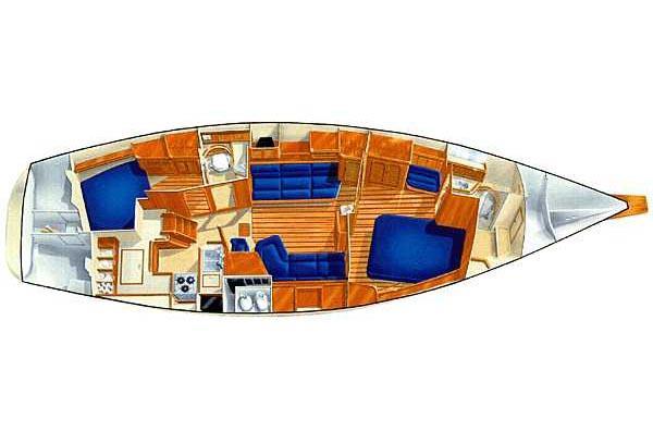 Island Packet 420 layout