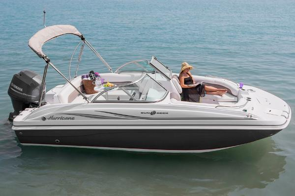 2014 Hurricane boat for sale, model of the boat is SunDeck 187 OB & Image # 2 of 12
