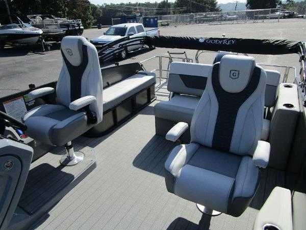2021 Godfrey Pontoon boat for sale, model of the boat is Monaco 235 SFL GTP 27 in. & Image # 28 of 32