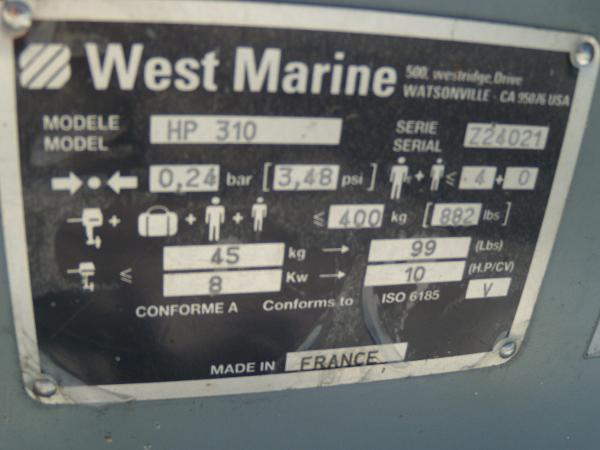 2012 West Marine boat for sale, model of the boat is HP-310 & Image # 4 of 4