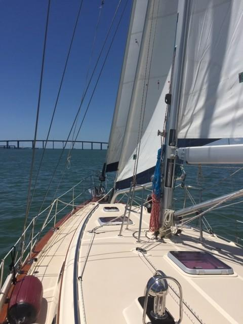 SIBONEY APPROACHES THE SUNSHINE SKYWAY BRIDGE