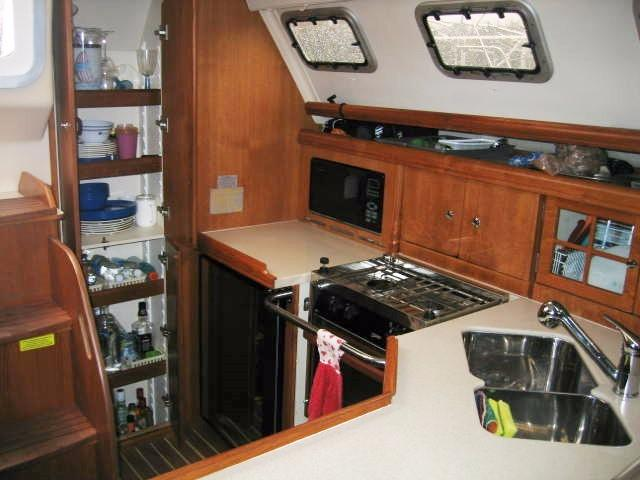 Galley with Pantry Doors Open