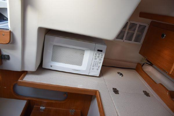 Top Opening Fridge and Microwave