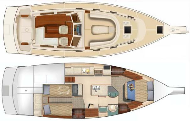 Island Packet SP Cruiser Layout