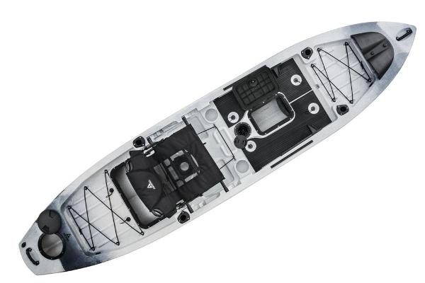 2020 Ascend boat for sale, model of the boat is 128T Yak-Power Sit-On (White/Black) & Image # 4 of 6
