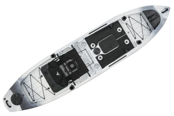 2020 Ascend boat for sale, model of the boat is 128T Yak-Power Sit-On - White-Black & Image # 5 of 6