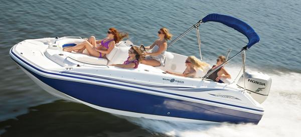 2014 Hurricane boat for sale, model of the boat is SunDeck Sport 188 OB & Image # 3 of 6