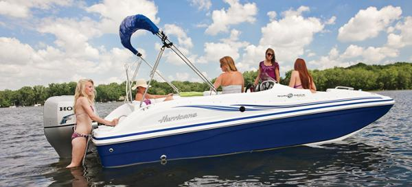 2014 Hurricane boat for sale, model of the boat is SunDeck Sport 188 OB & Image # 5 of 6