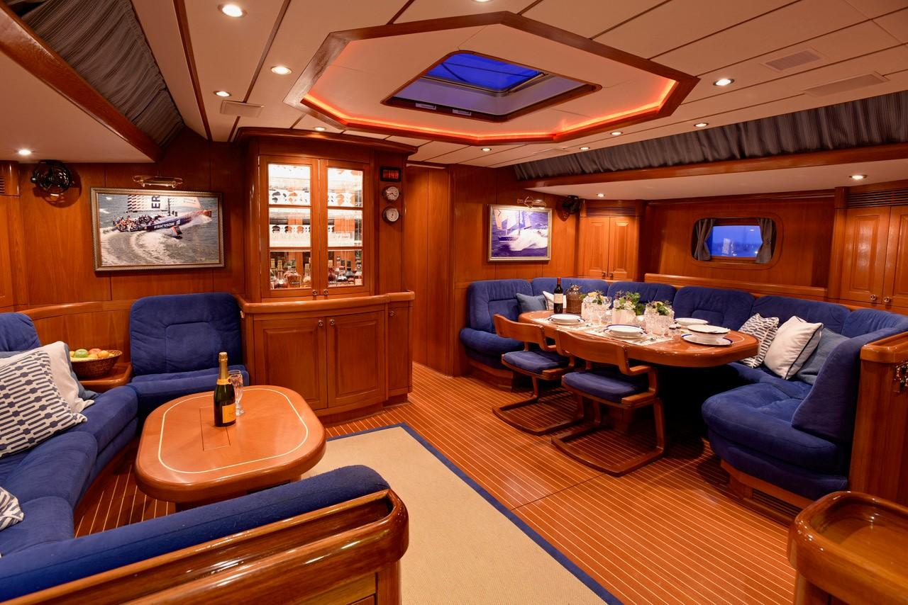 Saloon from galley